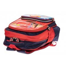 На фото 3 - Рюкзак для мальчика из текстиля, цвет красный с синим
