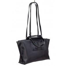На фото 1 - Текстильная сумка-трапеция, цвет чёрный