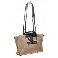 На фото 1 - Текстильная сумка-трапеция, цвет бежевый
