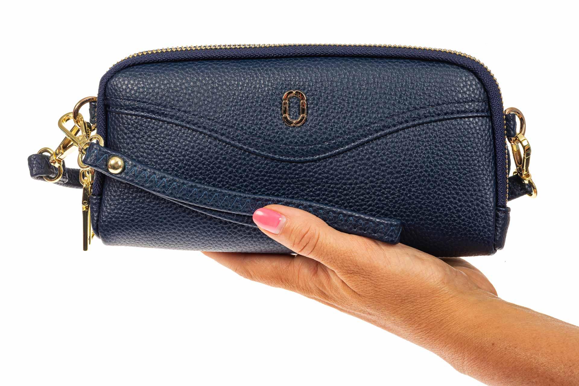 На фото 3 - Женский кошелек-клатч из искусственной кожи, цвет синий