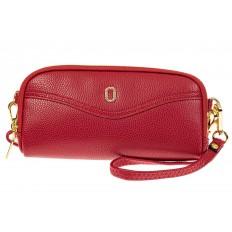 На фото 2 - Женский кошелек-клатч из искусственной кожи, цвет красный