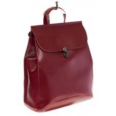 Купить оптом рюкзак из натуральной кожи для женщин, цвет бордовый, фото