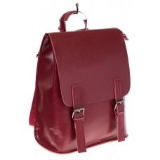 Купить оптом женский универсальный рюкзак из кожи, цвет красный, фото