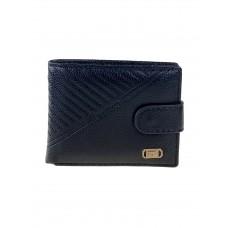 На фото 1 - Мужской кошелёк из экокожи с тиснёным узором, цвет чёрный