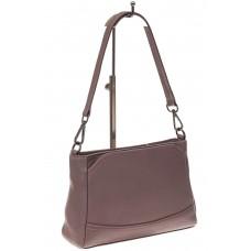 На фото 1 - Классическая женская сумка из натуральной кожи, цвет пудра