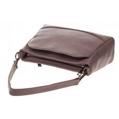 На фото 4 - Классическая женская сумка из натуральной кожи, цвет пудра