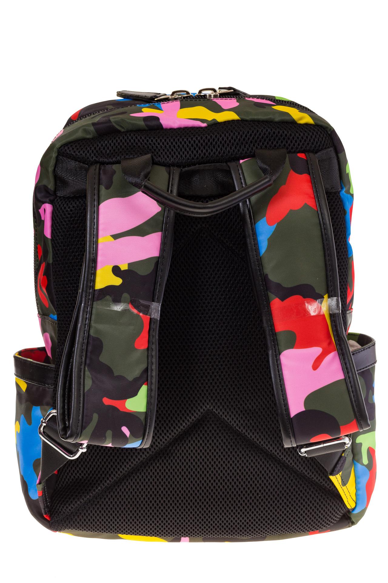 Купить оптом городской рюкзак из текстиля, фото сзади