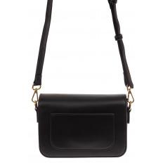 На фото 2 - Каркасная сумка-малышка из эко-кожи, цвет черный