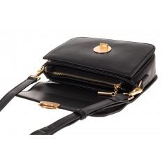 На фото 3 - Каркасная сумка-малышка из эко-кожи, цвет черный
