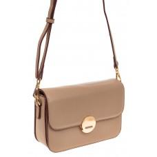 На фото 1 - Каркасная сумка-малышка из эко-кожи, цвет б...