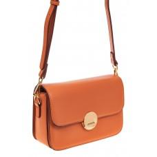 На фото 1 - Каркасная сумка-малышка из эко-кожи, цвет о...