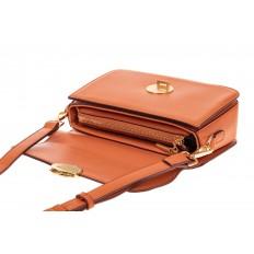 На фото 3 - Каркасная сумка-малышка из эко-кожи, цвет оранжевый