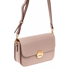 На фото 1 - Каркасная сумка-малышка из эко-кожи, цвет п...