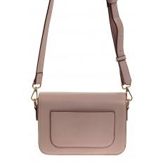 На фото 2 - Каркасная сумка-малышка из эко-кожи, цвет пудра