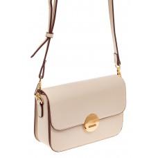 На фото 1 - Каркасная сумка-малышка из эко-кожи, цвет молочный