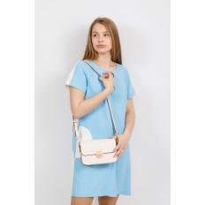На фото 4 - Каркасная сумка-малышка из эко-кожи, цвет молочный
