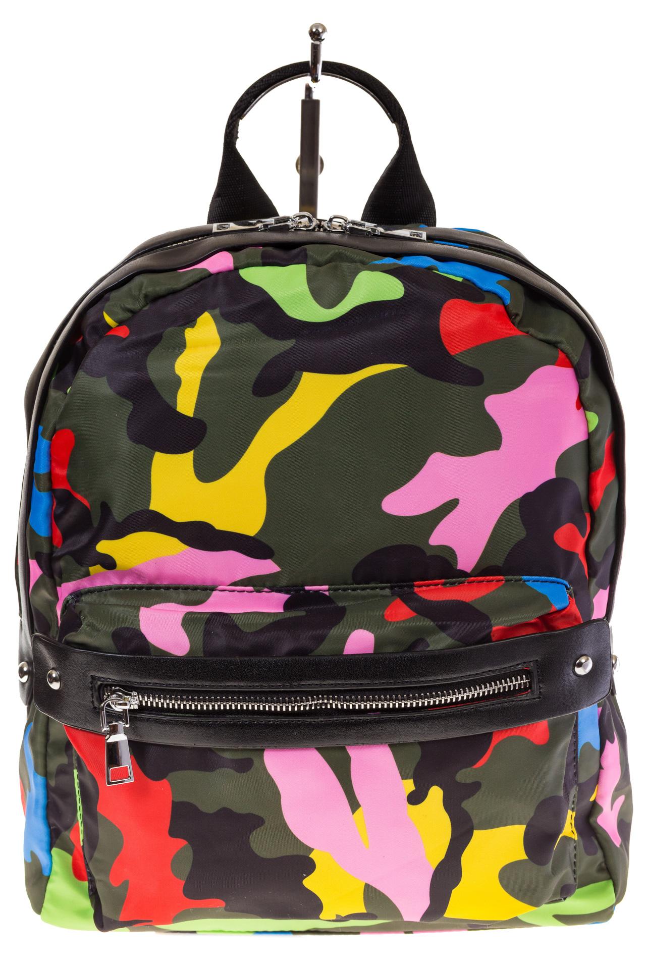 Купить оптом молодежный рюкзак из текстиля, фото спереди