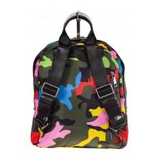 Купить оптом молодежный рюкзак из текстиля, фото сзади