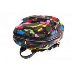 Купить оптом молодежный рюкзак из текстиля, фото изнутри