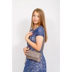 На фото 4 - Женский клатч из натуральной кожи, цвет серый