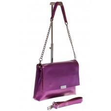на фото Фиолетовый флат – сумочка из натуральной кожи 109MK5