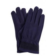 На фото 1 - Перчатки мужские из велюра, цвет синий