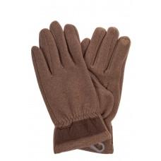 На фото 1 - Перчатки мужские из велюра, цвет какао