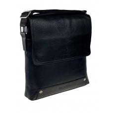 На фото 1 - Сумка-планшет из фактурной искусственной кожи, цвет чёрный