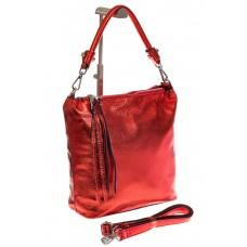 На фото 1 - Женская сумка из натуральной кожи красного ...