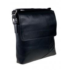 На фото 1 - Мужская сумка-планшет из фактурной искусственной кожи, цвет чёрный
