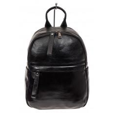 На фото 2 - Рюкзак женский из натуральной кожи, цвет черный