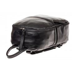 На фото 4 - Рюкзак женский из натуральной кожи, цвет черный