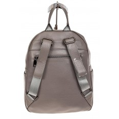 На фото 3 - Рюкзак женский из натуральной кожи, цвет серый
