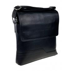 На фото 1 - Сумка-планшет мужская из фактурной искусственной кожи, цвет чёрный