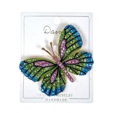На фото 1 - Брошь ювелирная в форме бабочки