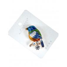 На фото 1 - Брошь ювелирная в форме попугая