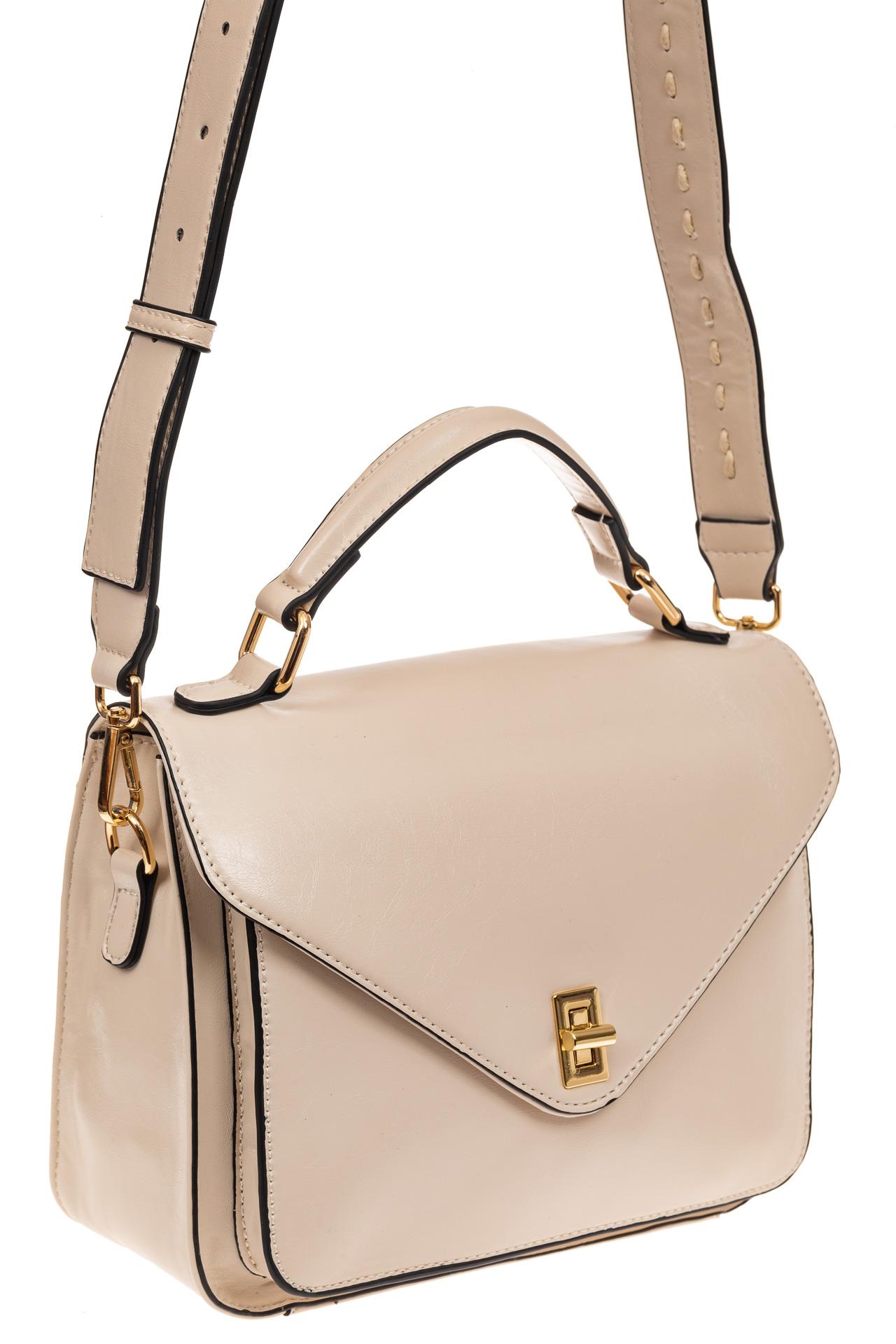 Наплечная сумка из искусственной кожи, цвет белый