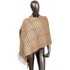На фото 1 - Недорогой шарф-палантин из кашемира, цвет б...