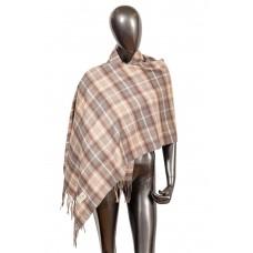 На фото 1 - Недорогой шарф-палантин из кашемира, цвет серо-бежевый