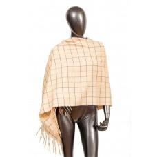 На фото 1 - Стильный шарф-палантин из кашемира, цвет молочный