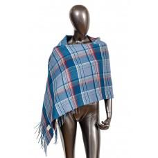 На фото 1 - Осенний шарф-палантин из кашемира, цвет синий