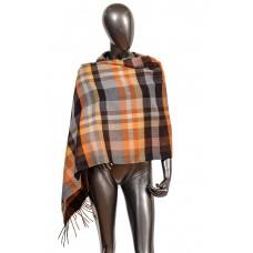 На фото 1 - Недорогой шарф-палантин из кашемира, цвет рыжий