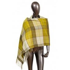 На фото 1 - Недорогой шарф-палантин из кашемира, цвет з...