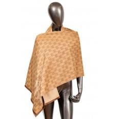На фото 3 - Теплая шаль-палантин из кашемира, цвет коричневый, производитель Китай