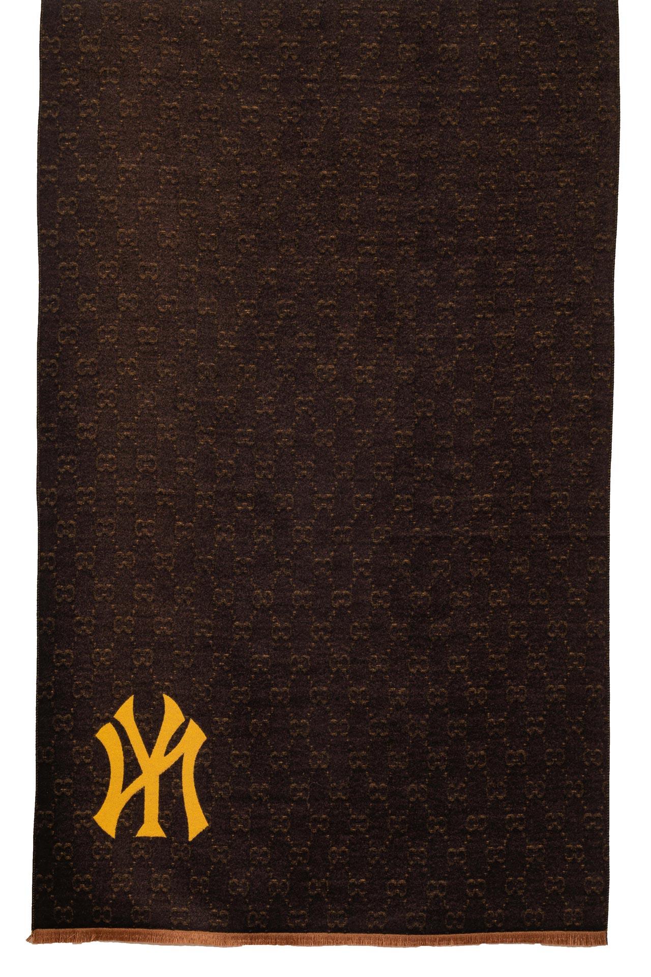На фото 2 - Кашемировая шаль-палантин, цвет желтый