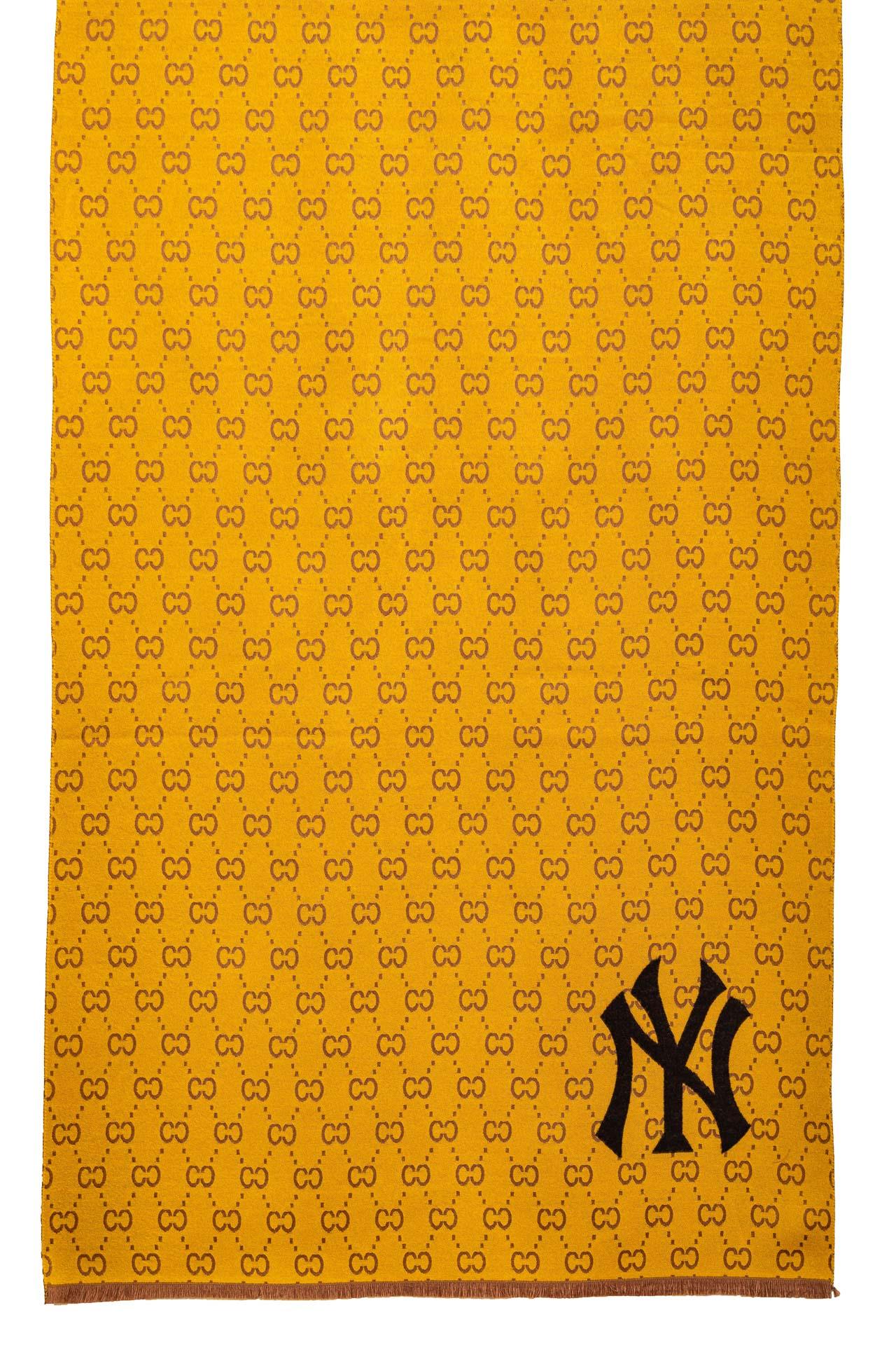 На фото 1 - Кашемировая шаль-палантин, цвет желтый