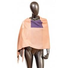 На фото 1 - Вечерний шарф-палантин из кашемира, цвет розовый