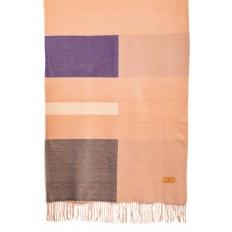 На фото 2 - Вечерний шарф-палантин из кашемира, цвет розовый