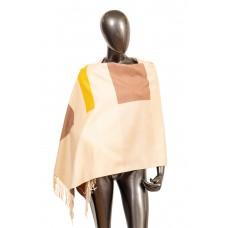 На фото 1 - Вечерний шарф-палантин из кашемира, цвет светло-бежевый
