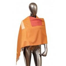 На фото 1 - Вечерний шарф-палантин из кашемира, цвет ко...